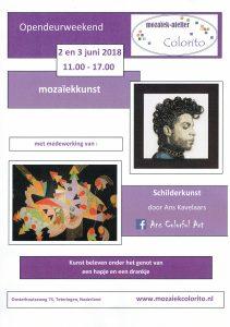 Poster Opendeurweekend - mozaiekatelier Colorito-Natasja Mulder
