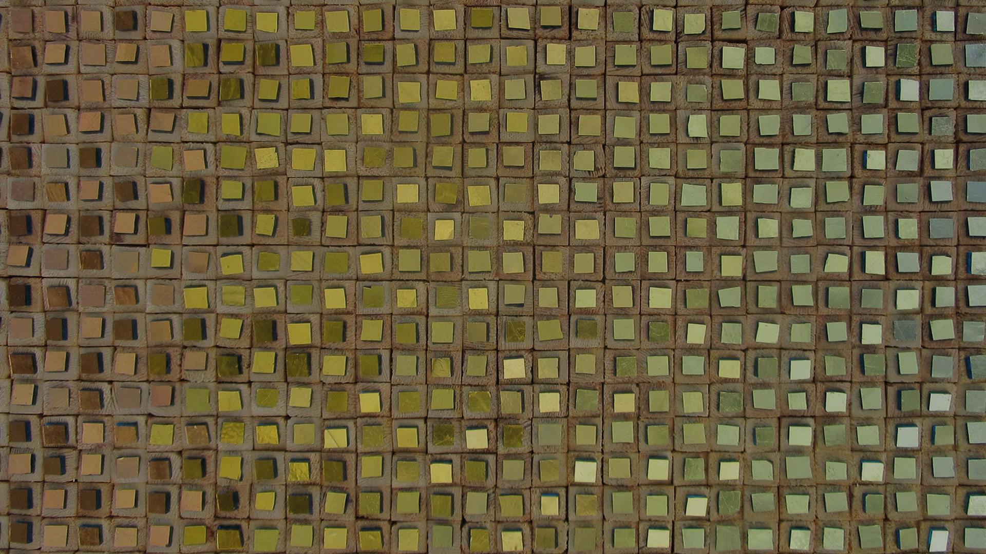 composizione oro e legno 1- detail-Mozaïekatelier Colorito-Natasja Mulder