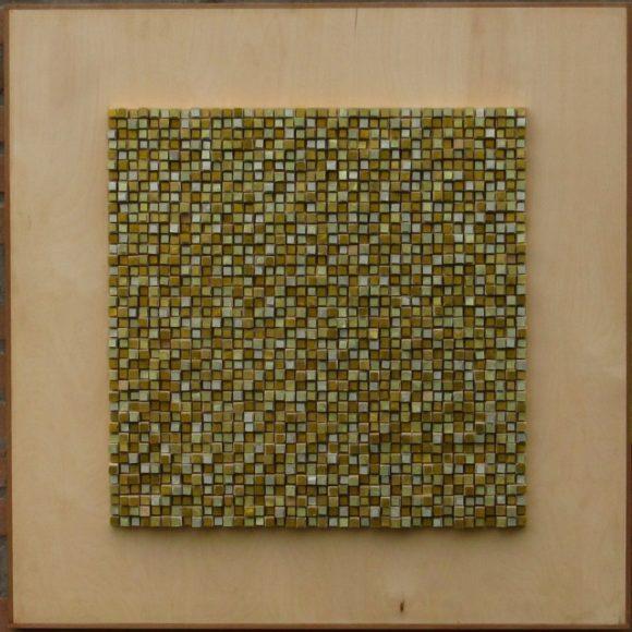 Composizione Oro e Legno 2 - Orsoni gold leaf smalti-wood-- Mozaïekatelier Colorito-Natasja Mulder