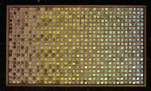 Composizione Oro e legno 1 -Orsoni gold leaf smalti- wood- Mozaïekatelier Colorito-Natasja Mulder
