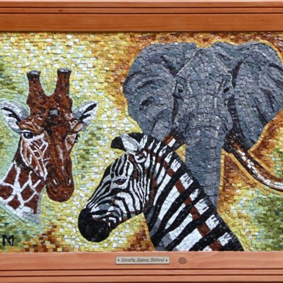Giraffe-Orsoni smalti- Mozaïekatelier Colorito-Natasja Mulder