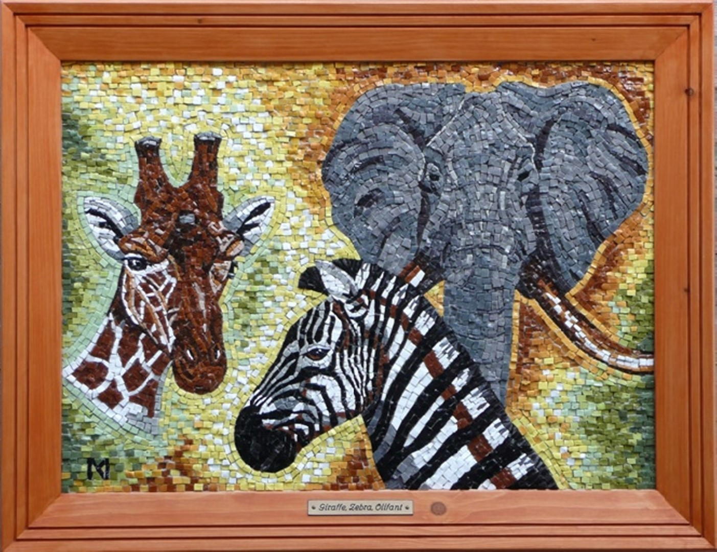 Giraffe Zebra Elephant