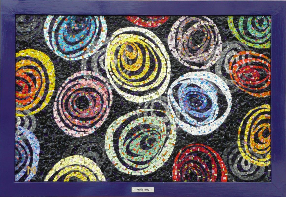 Milky Way - mosaic by -Mozaïekatelier Colorito- Natasja Mulder