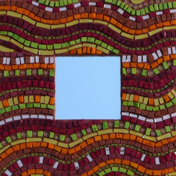 Mini mirror Waves 2- mirror-spiegel- Mozaïekatelier Colorito-Natasja Mulder