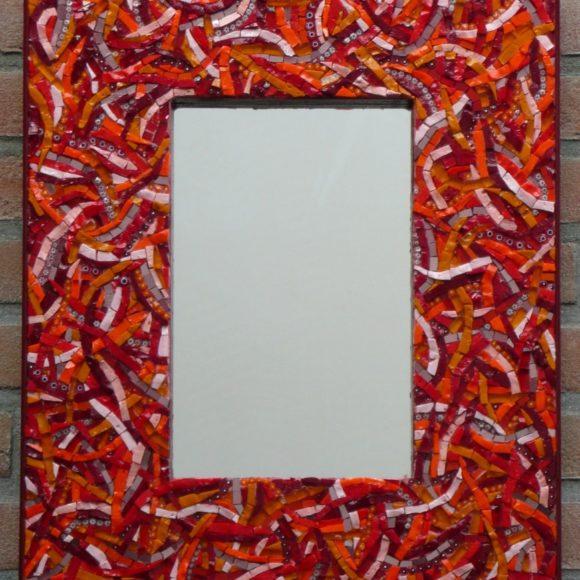 Mirror Red Wavy