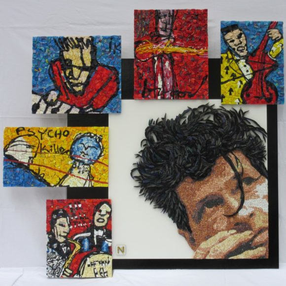 Never be Clever-Herman Brood- Orsoni smalti-marble- Mozaïekatelier Colorito-Natasja Mulder