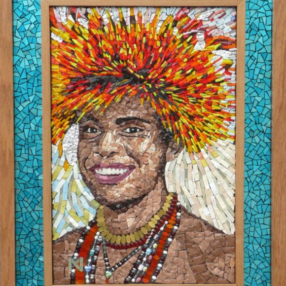 Papuaman-portret-Orsoni smalti- Mozaïekatelier Colorito-Natasja Mulder