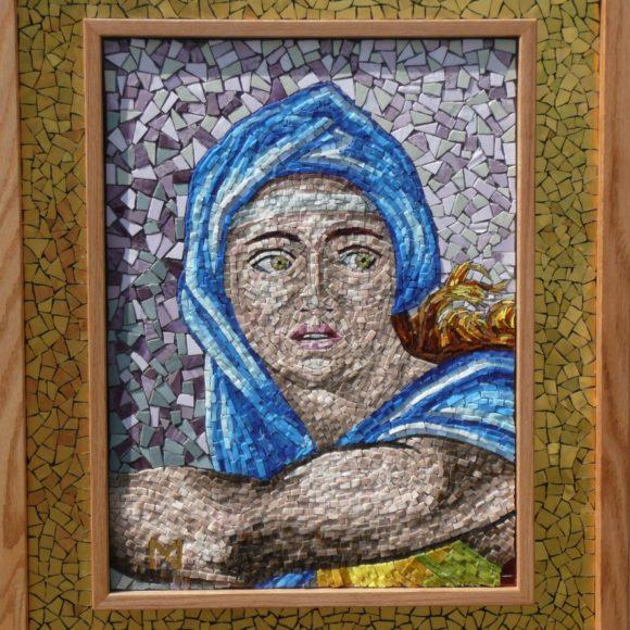 Delphic Sybil- portretten-Orsoni smalti- gold leaf smalti- Sistene Chapel-Michelangelo-Mozaïekatelier Colorito -Natasja Mulder