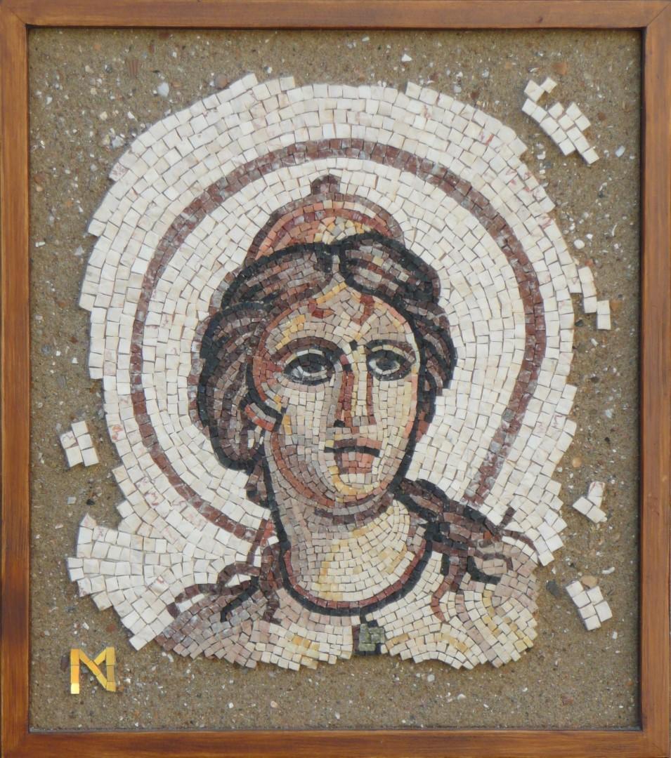 Venus-romeins mozaïek-marble- Mozaïekatelier Colorito-Natasja Mulder