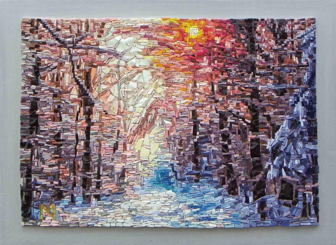 Winter Wonderland - Orsoni smalti-Mozaïekatelier Colorito-Natasja Mulder