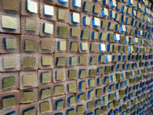 detail Composizione Oro e Legno 1- Mozaiekatelier Colorito-Natasja Mulder