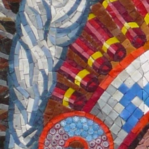 detail Opperhoofd - Mozaiekatelier Colorito-Natasja Mulder