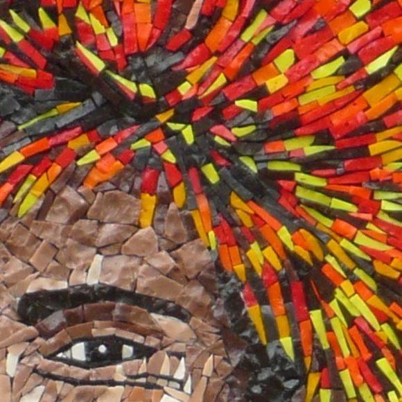 detail Papuaman- Mozaiekatelier Colorito-Natasja Mulder