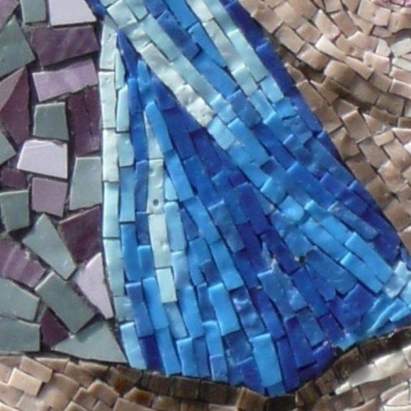 detail Sibille van Delphi-Natasja Mulder- Mozaiekatelier Colorito