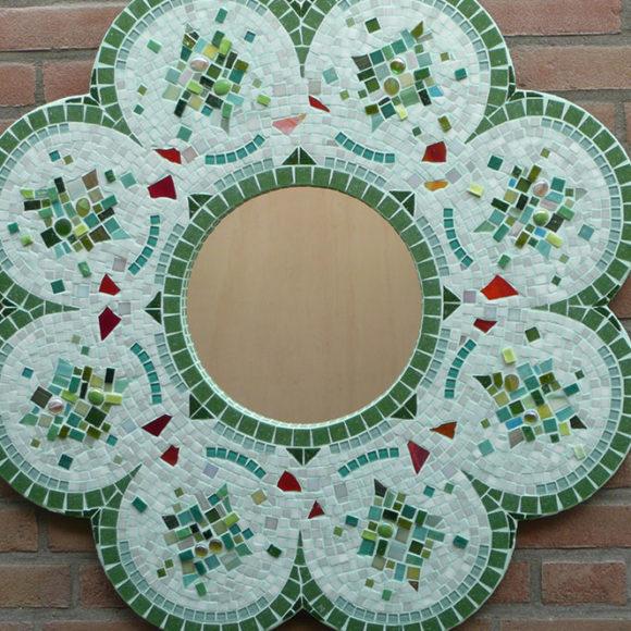 flower-mirror-2x2-mirror-spiegel-mozaïekatelier Colorito-Natasja Mulder