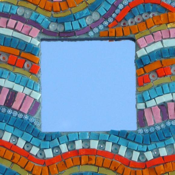 mini-mirror-waves-1-2x2- mirror- spiegellijst- Mozaïekatelier Colorito-Natasja Mulder