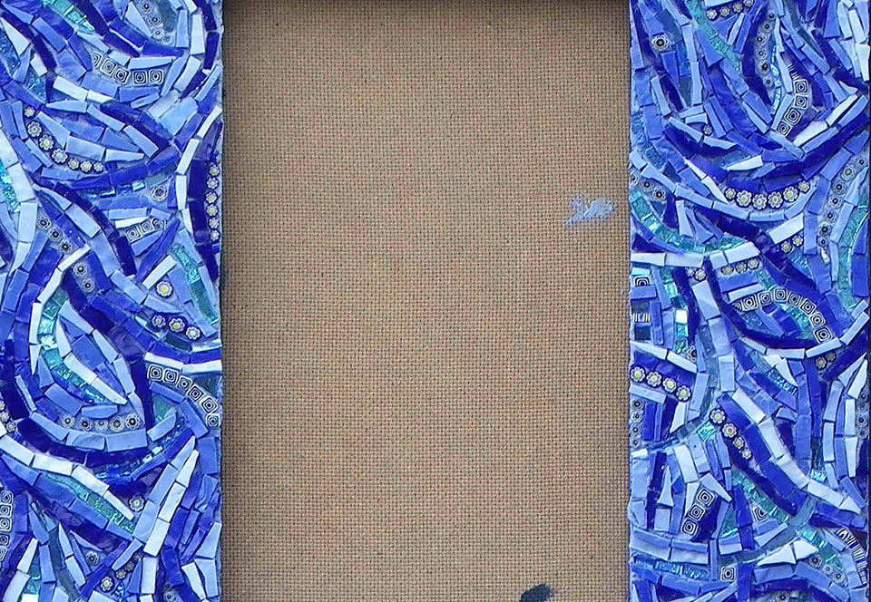 Mirror Blue Wavy