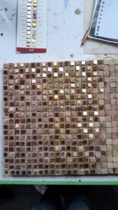 project Composizione Oro e Legno 1-4- Mozaiekatelier Colorito-Natasja Mulder