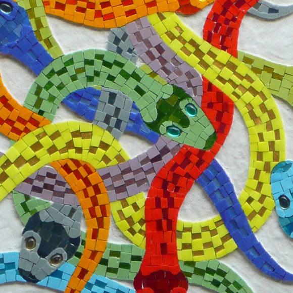 Meandering snakes-2x2-mozaiekatelier Colorito-Natasja Mulder