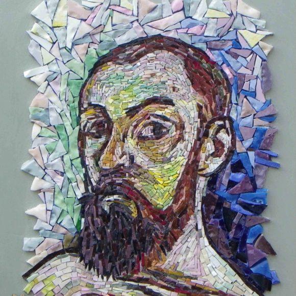 zelfportret Matisse- after Matisse -Orsoni smalti-Mozaïekatelier Colorito-Natasja Mulder
