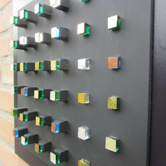 Composizione Oro e Legno - 30x30- nr1- Mozaïekatelier Colorito-Natasja (2)