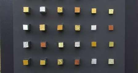 Composizione Oro e Legno 30 x 30 cm nr 1
