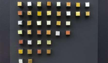 Composizione Oro e Legno 30 x 30 cm nr 3