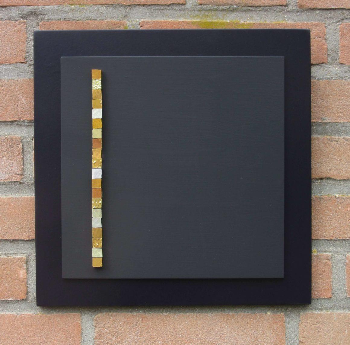 Composizione Oro e Legno 30 x 30 cm nr 4
