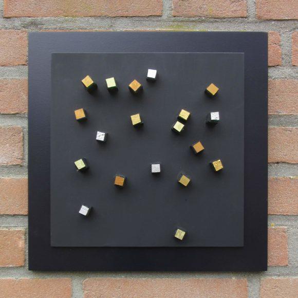 Composizione Oro e Legno 30 x 30 cm nr 6