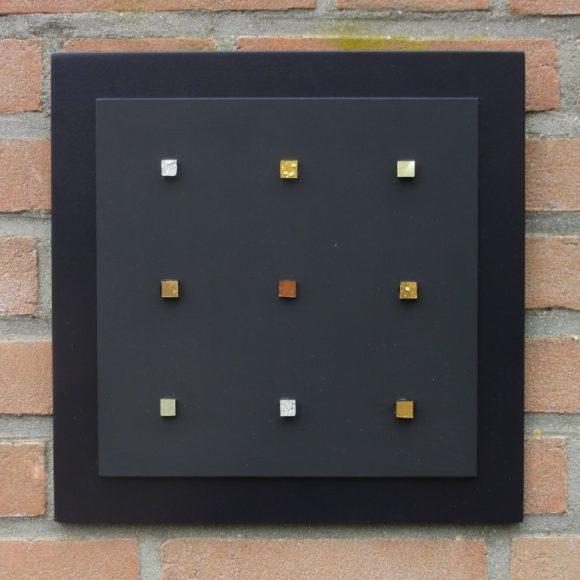 Composizione Oro e Legno 30 x 30 cm nr 7