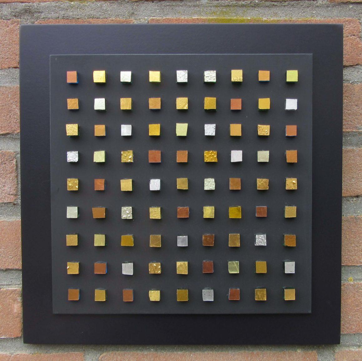 Composizione Oro e Legno - 30x30- nr8- Mozaïekatelier Colorito-Natasja