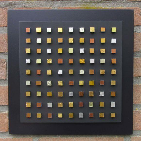 Composizione Oro e Legno 30 x 30 cm nr 8