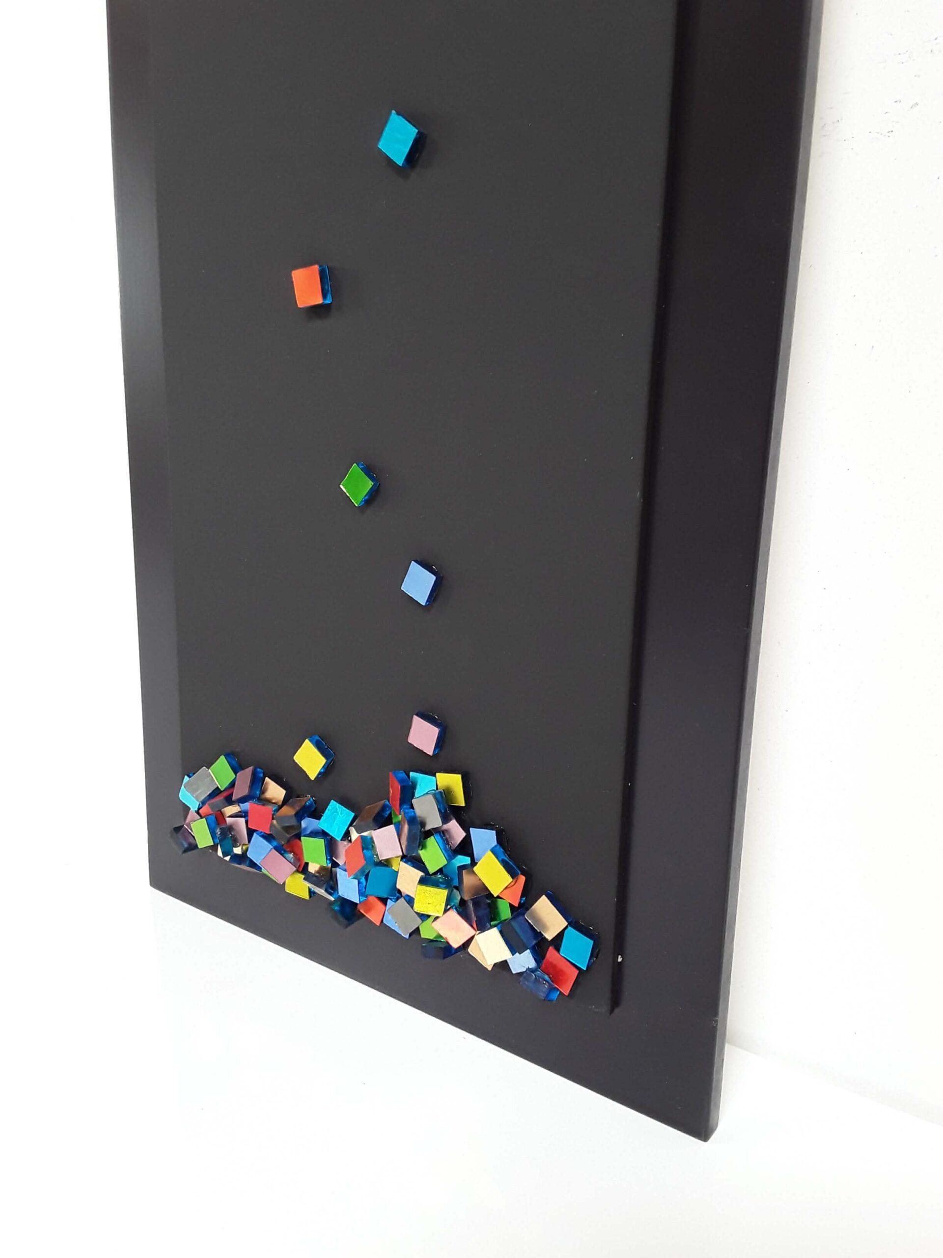 Mosaic art- Shattered- Free work-detail-Mozaïekatelier Colorito- Natasja Mulder