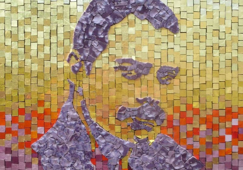 Freddie Mercury- Mosaic- A kind of magic-detail-Mozaïekatelier Colorito-Natasja (3)