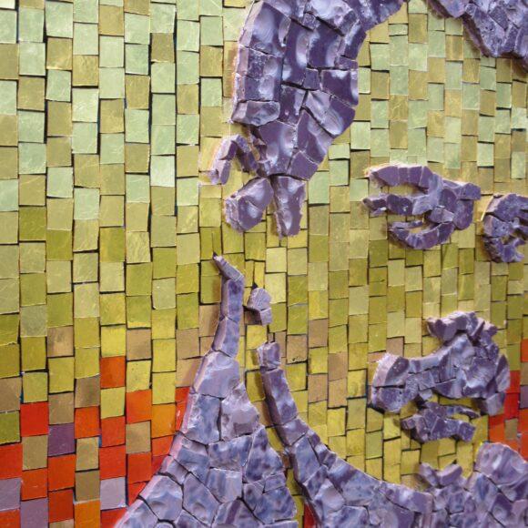 Freddie Mercury- Mosaic- A kind of magic-detail-Mozaïekatelier Colorito-Natasja (3)
